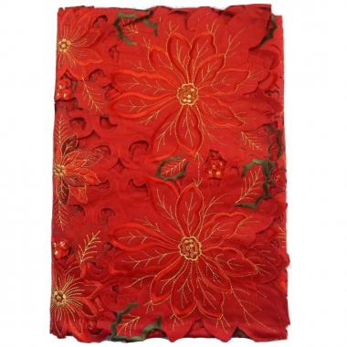 Mantel Redondo 180 Cm Rojo Blanme