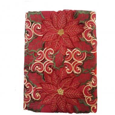 Mantel Rectangular 180 X 220 Cm Rojo Blanme