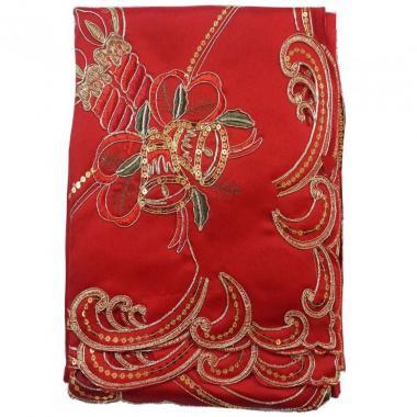 Mantel Cuadrado 220 X 220 Cm Rojo Blanme
