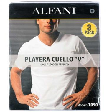 Playera Cuello V Paquete De 3 Pzs Alfani