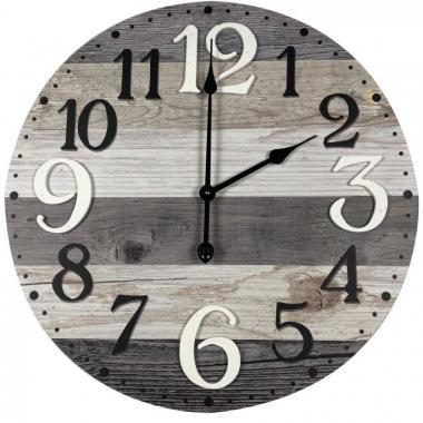 Reloj De Pared Redondo De Madera Con Digitos De Color Blanco Y Negro Home Nature