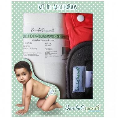 Caja Kit de Accesorios para Pañal Infantil BambúOrganik