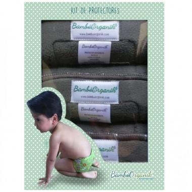 Caja Kit de Protectores para Pañal Infantil BambúOrganik