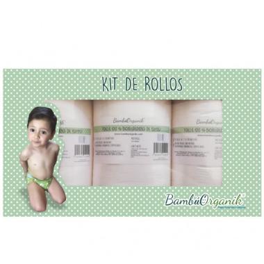 Caja Kit de Rollos para Pañal Infantil BambúOrganik