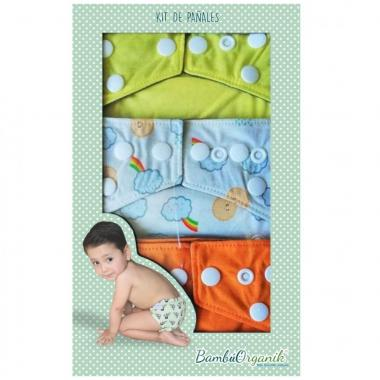 Caja Kit de Pañales Infantiles BambúOrganik