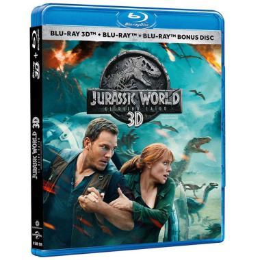 3D Blu Ray Bonus Disc Jurassic World: Reino Caido