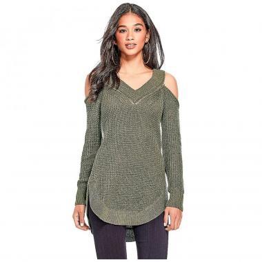 Suéter Verde Con Cierre G By Guess