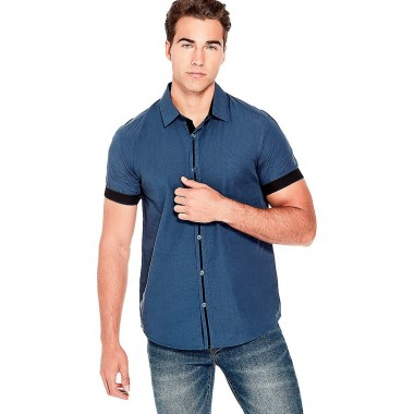 Camisa Color Azul G By Guess