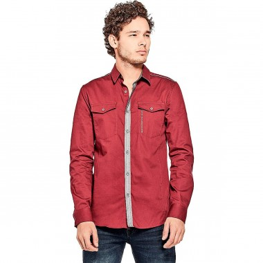 Camisa Color Rojo G By Guess