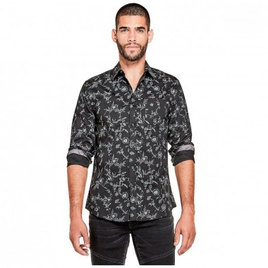 Camisa Color Negro G By Guess