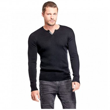 Suéter Color Negro By Guess