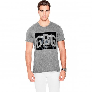 Playera Color Gris G By Guess