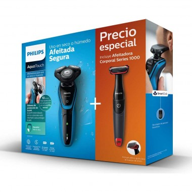 Philips Pack Rasuradora Aquatouch + Recortadora Corporal Philips