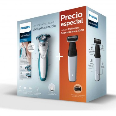 Philips Pack Rasuradora Sensitive + Afeitadora Corporal Philips