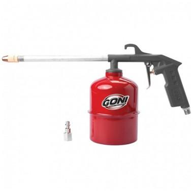 Pistola Limpia Motores con Vaso de 1L Goni