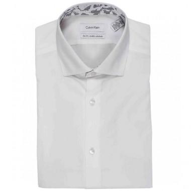 Camisa de vestir Calvin Klein Color Gris combinado