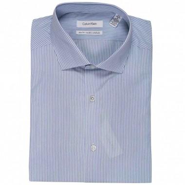 Camisa de vestir Calvin Klein Color Azul combinado