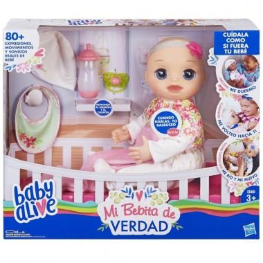 Baby Alive Mi Bebita de Verdad Muñeca Rubia Hasbro