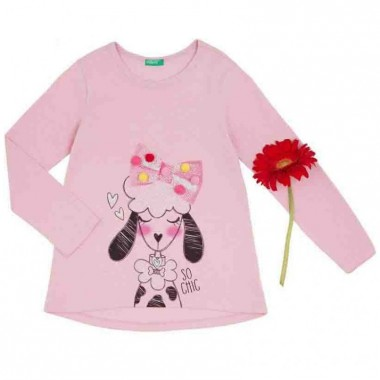 Playera Color Rosa Benetton