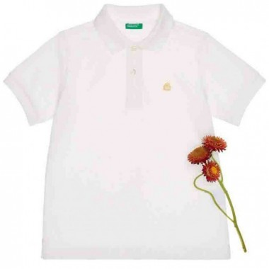 Polo Color Blanco Benetton