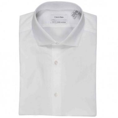 Camisa de vestir Calvin Klein Color Blanco