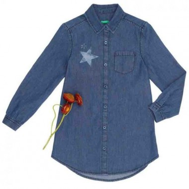 Camisa Color Azul Benetton