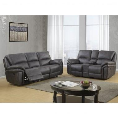 Sala 3-2 Berlín sofá y love seat con reclinables u140 Global Furniture