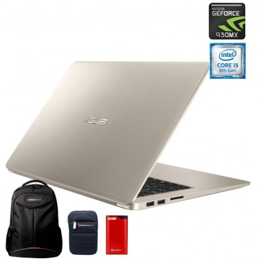 Paquete Laptop Asus S510UR-BR175T+Backpack+Funda+Powerbank