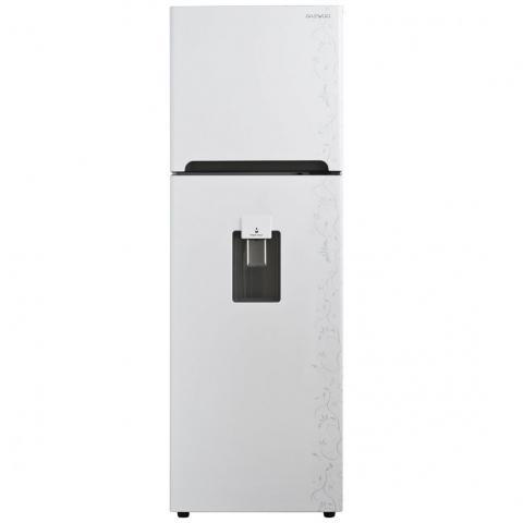 Refrigerador Daewoo Top Mount 9 Pies Blanco Con Grabado Floral