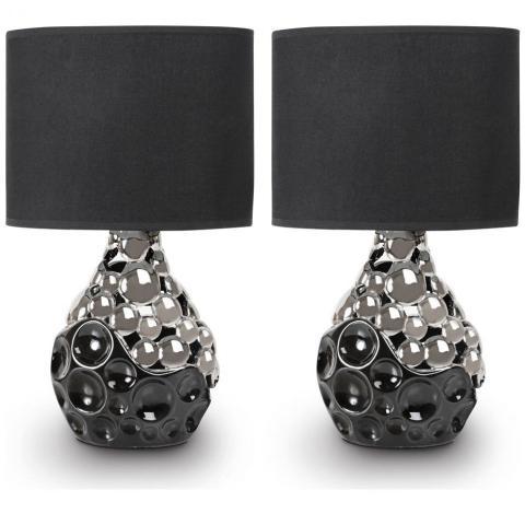 Juego de 2 lámparas color negro