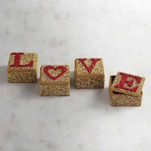 Cajas Mini Beaded Love Pier 1 Imports - 4 Piezas