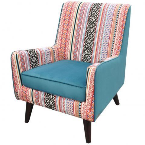 Sillon Jimmy Tapiz Tela Combinacion Multicolor Muebles Liz