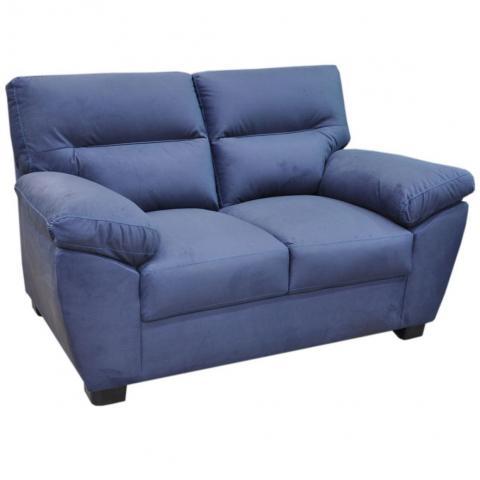 Love Seat  Bartra Tapiz Tela Azul Muebles Liz