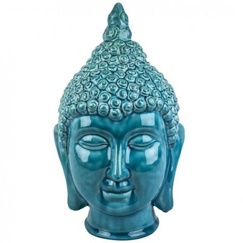 Figura Cerámica Buda Turquesa Home Nature