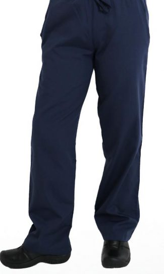 Navy regular cut scrub pants