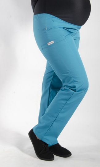 TEAL coloured Maternity scrub pants with elasticated waistband