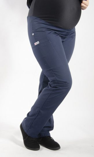 NAVY coloured Maternity scrub pants with elasticated waistband