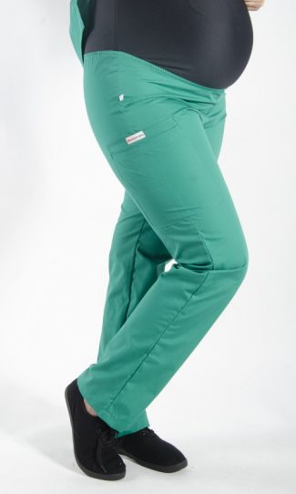 HUNTER coloured Maternity scrub pants with elasticated waistband
