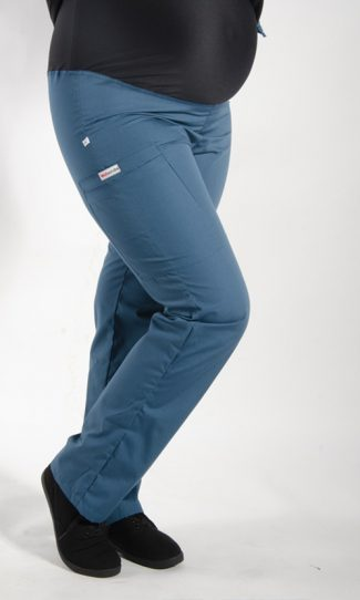 Caribbean coloured Maternity scrub pants with elasticated waistband
