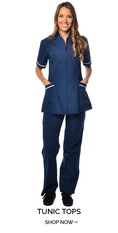 Tunic style uniforms for sale at mediscrubs. Four unique tunic tops to choose from