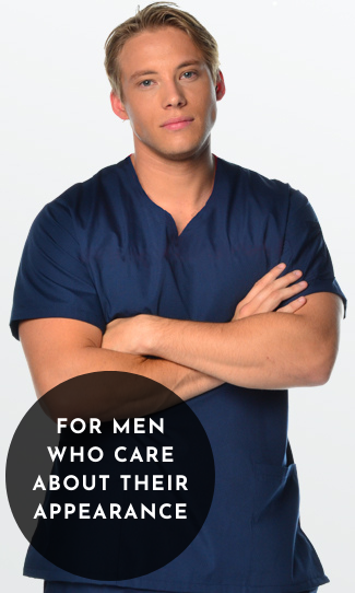 Mens Fit Scrub Tops