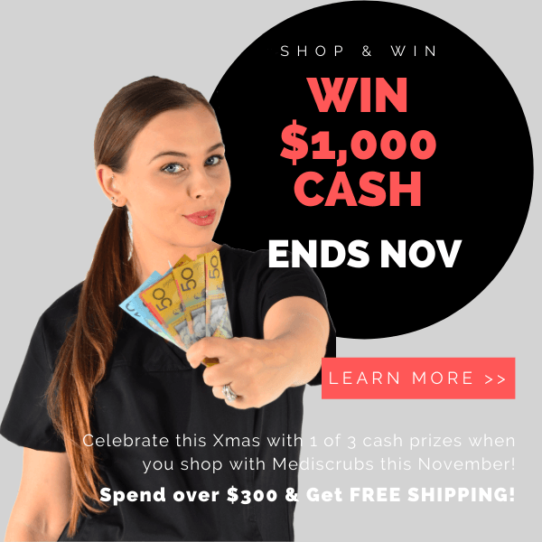 Win $1,000 dollars cash. shop for scrubs and medical uniforms now for your chance to win 1 of three cash prizes