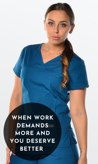 Womens Fit Scrub Tops
