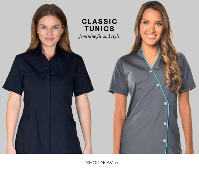 Shop Tunic scrub tops for a feminine and classic stylish look