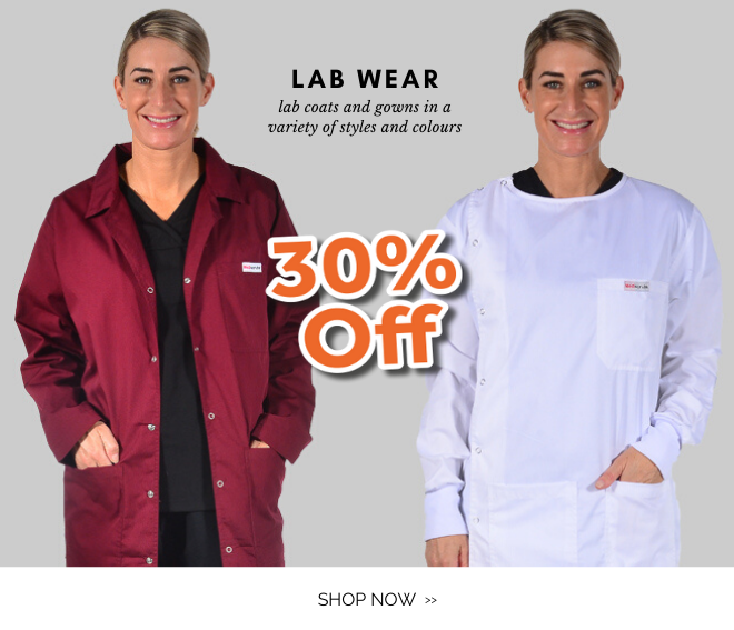 Shop Lab jackets and gowns and save 30% everyday