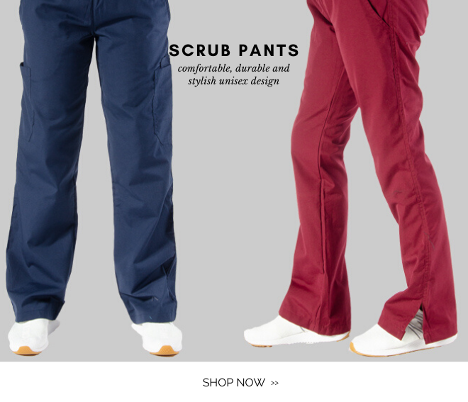Shop unisex scrub pants for nurses and health professionals
