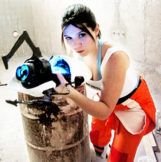 Chell Portal 2 Cosplay By Kiruru Cosplay Com