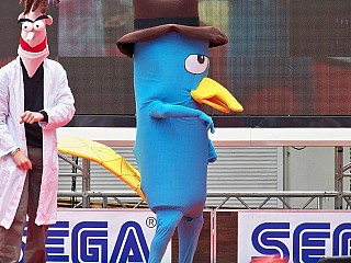 the cosplay Perry platypus