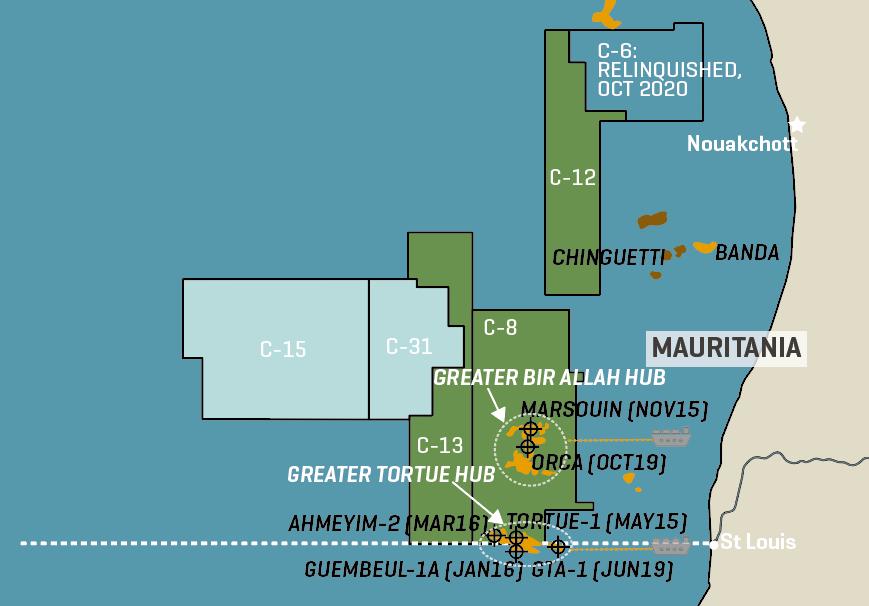 BP/Kosmos Mauritania Blocks & LNG Hub Plans