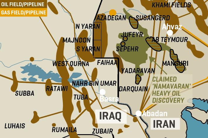 Iran's West Karun Oil Fields & Infrastructure